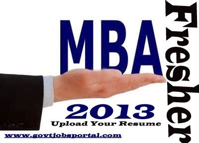 Free resume samples for mba freshers